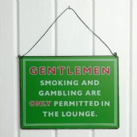 Gentleman's Smoking & Gambling Sign